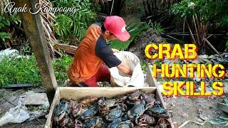 TANGKAPAN HEBAT KEPITING BAKAU BESAR - Great Catch Of large mangrove crabs