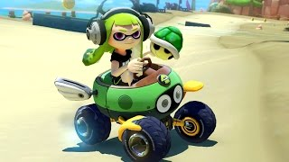 Mario Kart 8 Deluxe - 200cc Crossing Cup (Inkling Girl Gameplay - New Character)