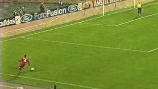 Глупая ошибка Черчесова, Спартак - Валенсия  0:3 (2002)