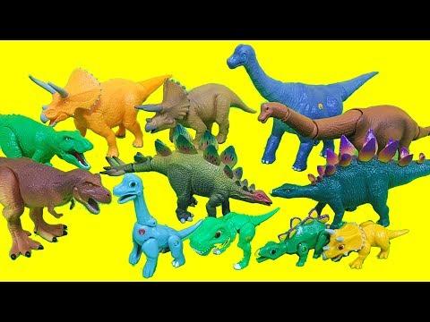 공룡메카드 액션피규어 Vs. 애니멀다이노 시리즈 브라키오사우루스 티라노사우루스 스테고사우루스 티라노사우루스 장난감 Dino Action Figure Toys