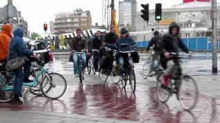 Cycling in the rain of the Netherlands