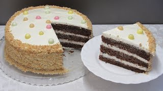 Торт из Варенья со Сметанным Кремом (пошаговый видео рецепт)
