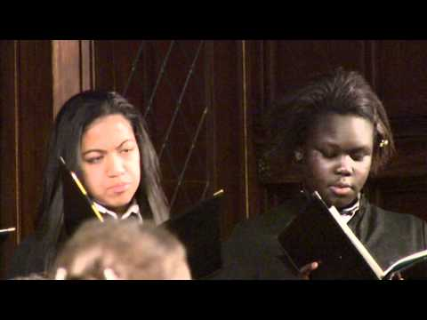 The Madeleine Choir School sings 'This Little Babe' by Benjamin Britten