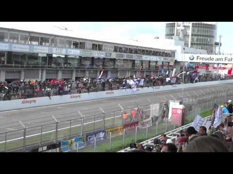Zieleinlauf des 40. ADAC Zurich 24h-Rennens auf dem Nürburgring 2012