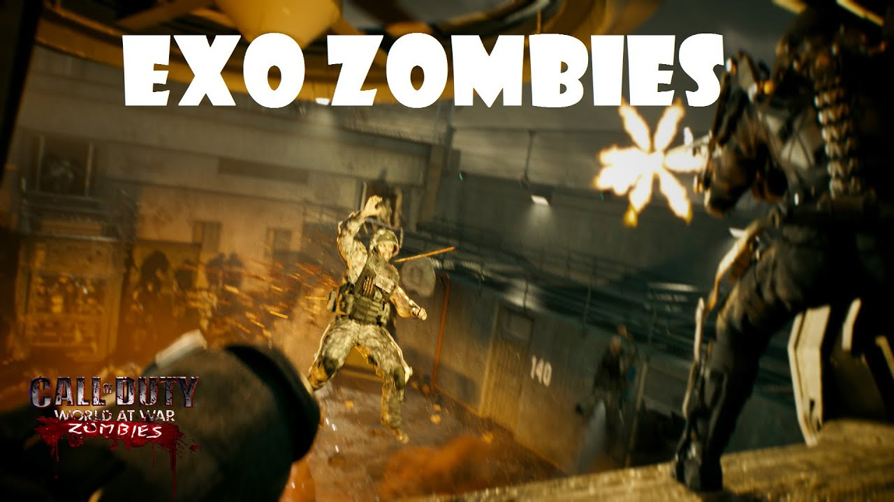 CoD WaW: Custom Map Nazi Zombies - Exo Zombies SOLO - YouTube