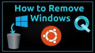 How to Uninstall Windows from Dual boot Ubuntu PC