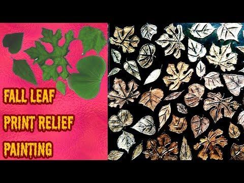 How to make Fall Leaf Relief paintings Part - 1( DIY ) ~ फॉल लीफ रिलीफ पेंटिंग बनाने की वीधि । भाग १