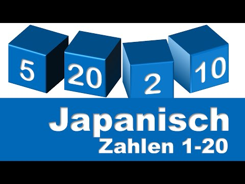 Japanische Zahlen 1 20 Youtube
