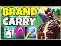 HOW TO SOLO CARRY AS BRAND SUPPORT - League of Legends