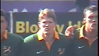 Tri-Nations rugby test excerpts South Africa vs NZ Eden Park Auckland NZ Aug 1997