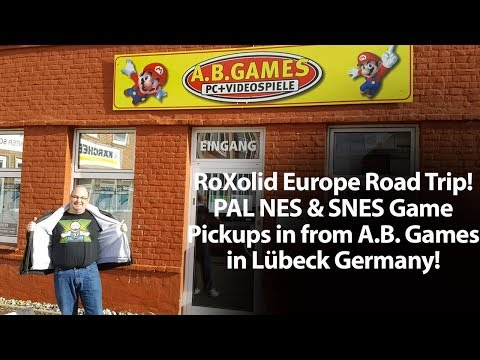 An American Retro Gamer in Germany - PAL Game Pick Ups Visiting AB Games in Lübeck Germany