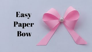 How To Make Bow Out Of Paper || Easy Paper Bow