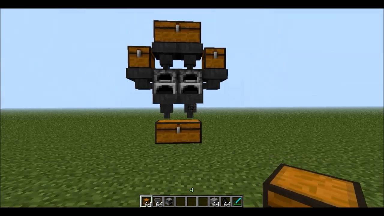 Minecraft - Simple Auto Smelter - YouTube