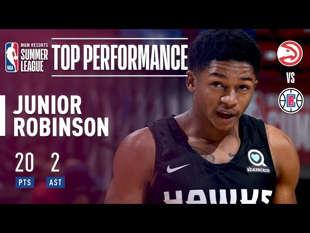 """5'5"""" Junior Robinson Comes Up BIG for the Atlanta Hawks In The 2018 MGM Resorts Summer League"""