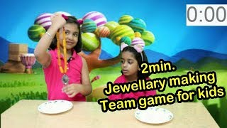 2Min.  jewellery making Team Game for Kids Indoor Game/fun indoor activities/kid activities near me,