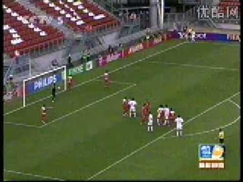 Zhao Xuri(China PR)'s wonderful goal in 2005.6.12 Netherlands World U-21 Championship   赵旭日