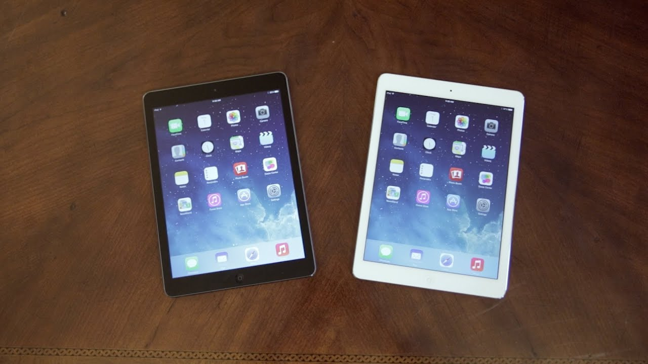 Apple iPad Air: White vs Black - Unboxing & Tour! - YouTube