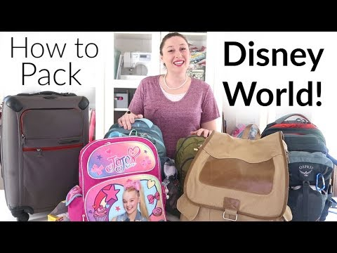 How To Pack For Disney World & Orlando, Florida - One Suitcase, Four Kids!
