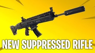 NEW Fortnite Update / New Gun | Suppressed Scar assault rifle gameplay | Fortnite Battle Royale
