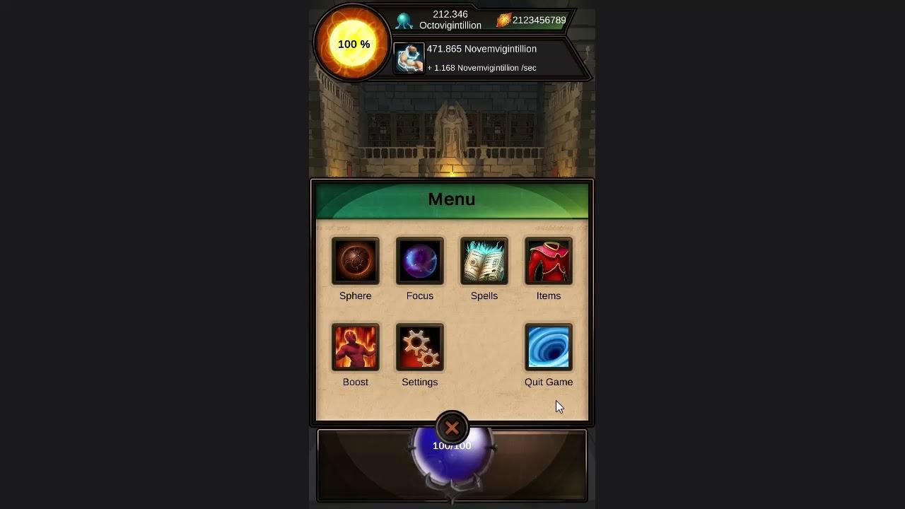 Idle Magic Clicker - A Wizard Tap Game (No IAP) Mod (Preview)