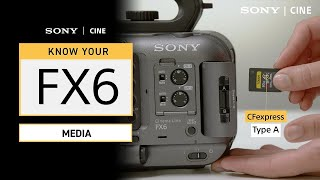Know Your FX6: Media (CFexpress Type A, SDXC V90, SDXC V60) | Sony Cine