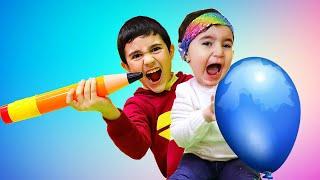 Hasouna Takes Celina's Balloons - سيلينا وحسونة بالونات للاطفال