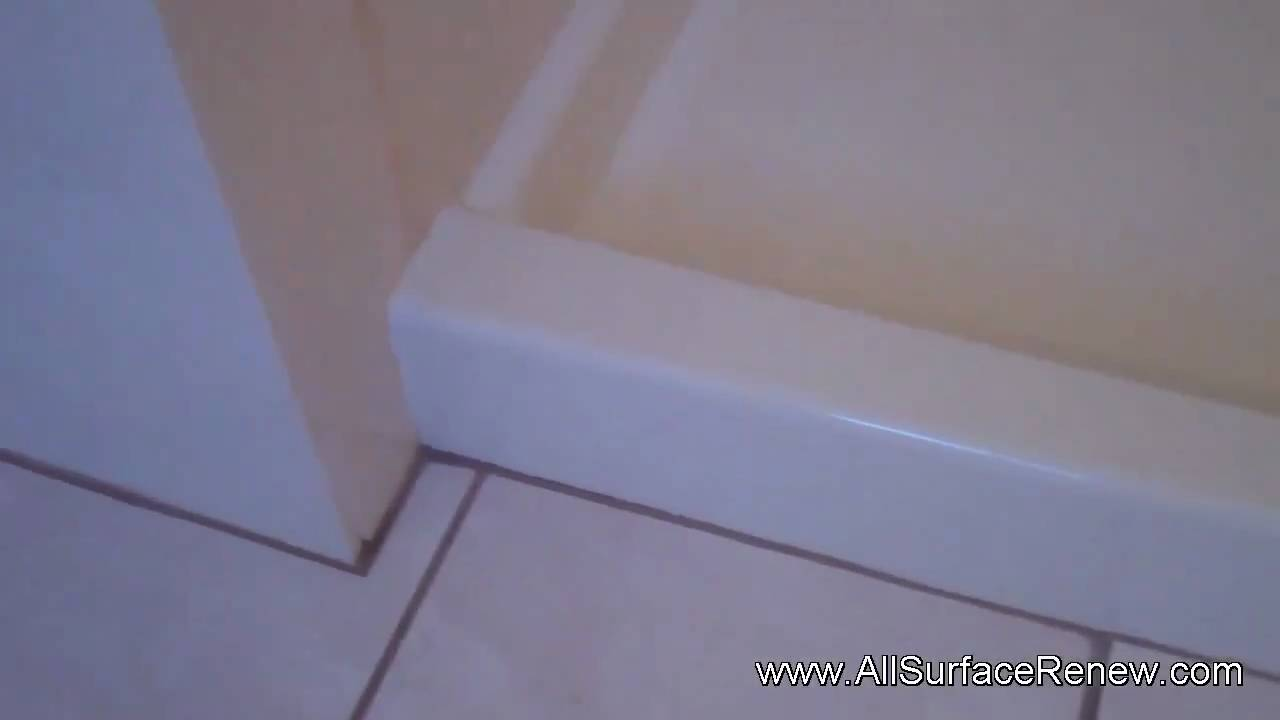 Stained shower floor to be refinished to a nice easy to clean stained shower floor to be refinished to a nice easy to clean surface youtube dailygadgetfo Images