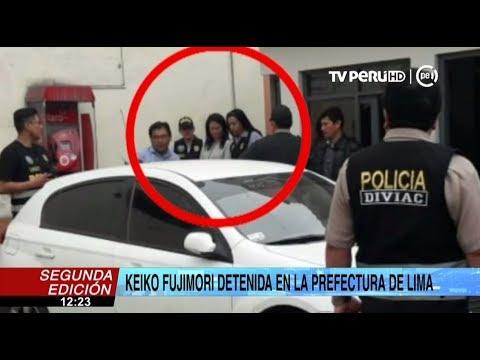 Keiko Fujimori permanece detenida en la Prefectura de Lima