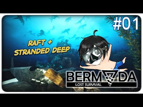 RAFT E STRANDED DEEP IN UN UNICO SURVIVAL | Bermuda Lost Sur