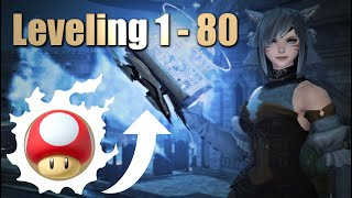 FFXIV: 1 - 80 Leveling Guide in 5 minutes (For Alts and Main Jobs/Classes)
