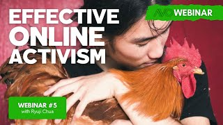 AVO Webinar #5 - Ryuji Chua and Alex Bez - Effective Online Activism