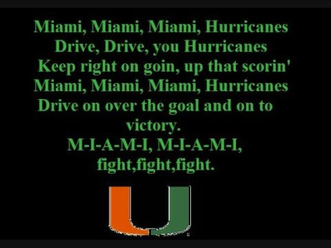 Miami (FL) Hurricanes Fight Song
