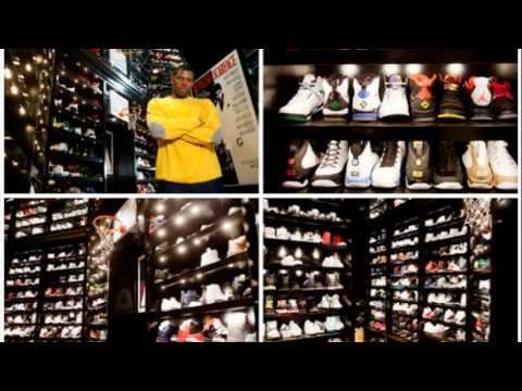 joe johnson sneaker closet youtube