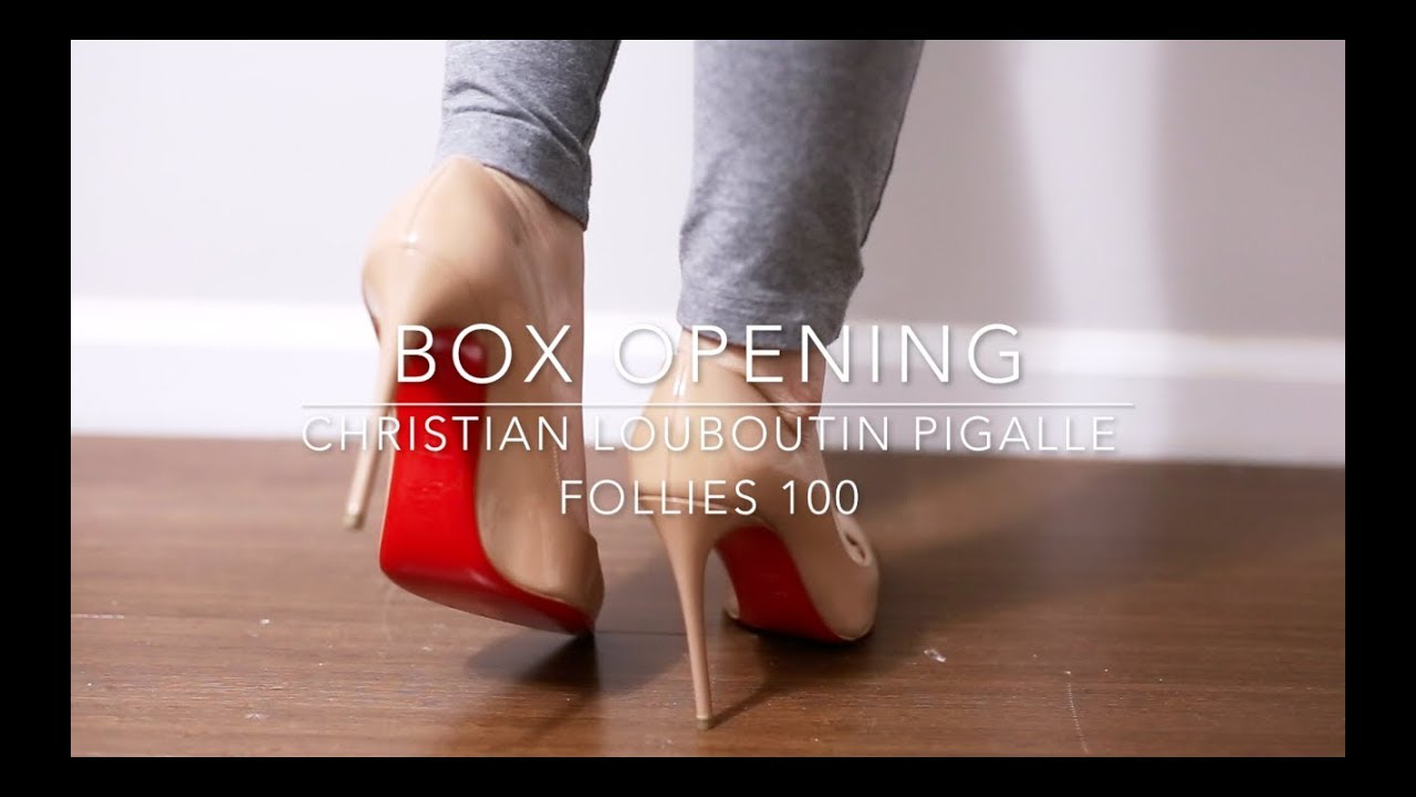02350ee66509 Box Opening - Christian Louboutin Pigalle Follies 100 Nude - YouTube