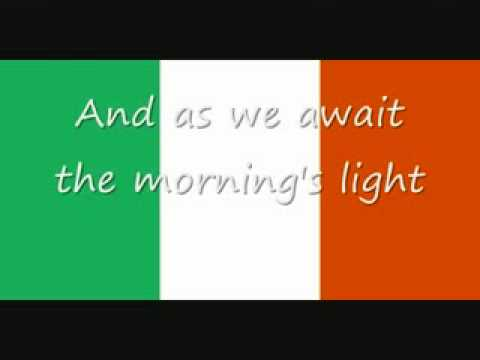 irish national anthem irish + english