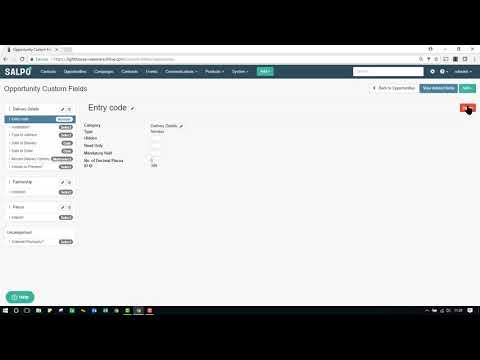 Creating Opportunity Custom Categories and Fields