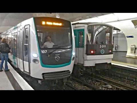 """Métro de Paris, ligne 9 : Matériel MF67 & MF01 """"Stif"""" / le parc MF01 bientot au complet"""