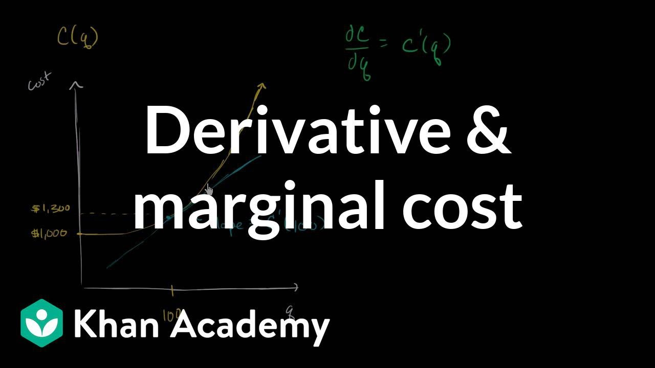 how to find marginal cost calculus