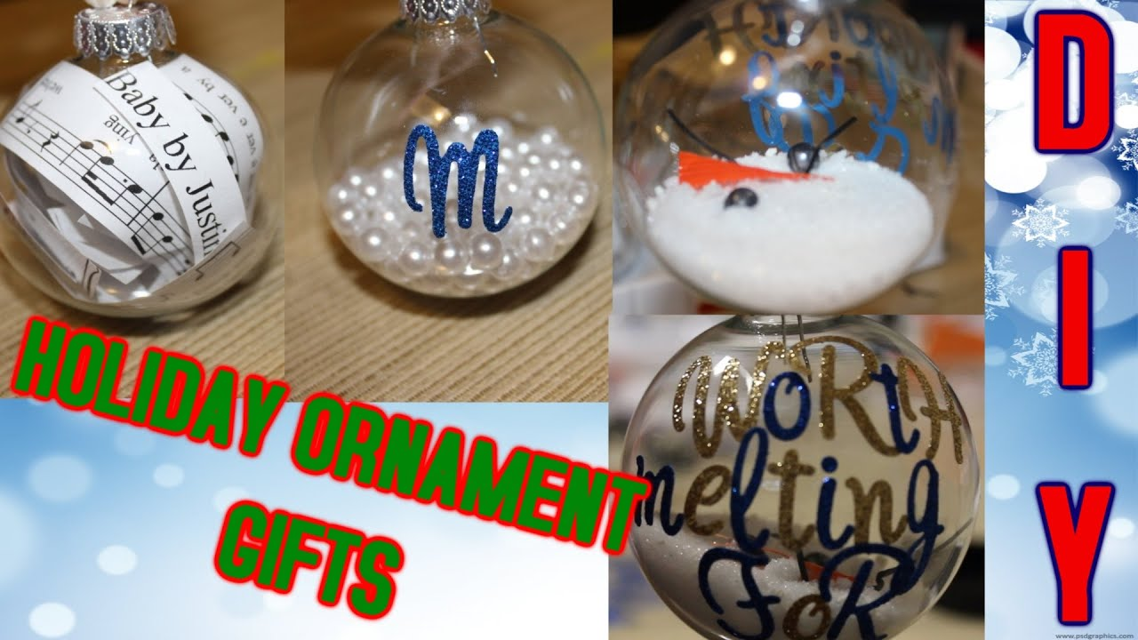 DIY HOLIDAY ORNAMENT GIFTS! | Melting Olaf, Lyrical, and Pearl ...