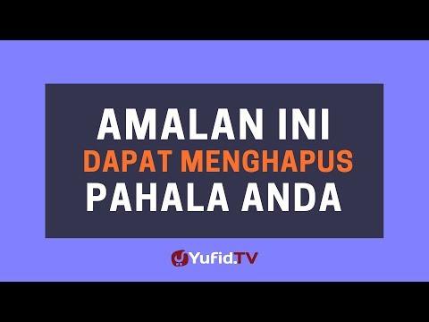 Amalan Penghapus Pahala – Poster Dakwah Yufid TV