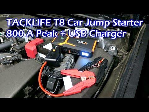 TACKLIFE T8 800A Car Jump Starter + USB Charger Power Bank