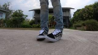 VANS Old Skool Blur Collection on Feet