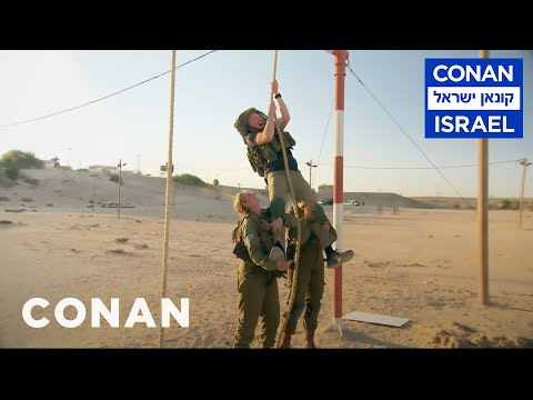 Conan Trains With The Women Of The Israel Defense Forces  - CONAN on TBS