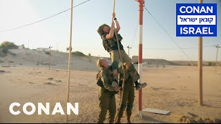 Download Conan Trains With The Women Of The Israel Defense Forces  - CONAN on TBS Mp3 and Videos
