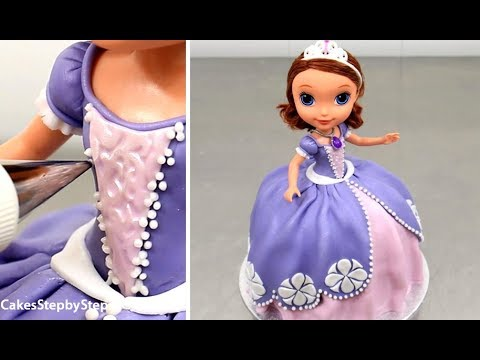 Sofia The First Disney Princess Doll Cake - How To Decorate by Cakes StepbyStep
