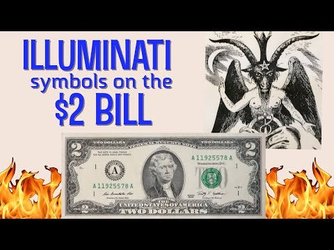 Illuminati Symbols On The $2 Bill?  Baphomet And Owls Rule On This Currency.