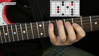 "Die 5 Pentatoniken für Gitarre: ""A Moll Pentatonik Position.2"" - Einfache Übung"