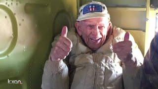 World War II veteran takes historic flight in military aircraft
