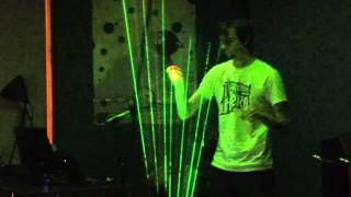Tetris Theme on Laser Harp - Theremin Hero LIVE! Finale - Gamecity 5 Nottingham