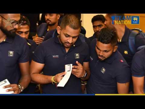 Sri Lanka Team in Pakistan – Arrival at Karachi